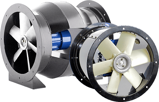 Axial-flow fans cased versions